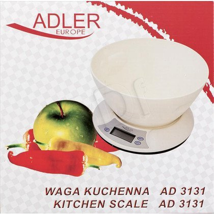 Waga kuchenna ADLER AD 3131 (z miską/ kremowa)