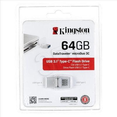 Kingston Flashdrive DTDUO3C/64GB 64GB USB 3.1 Biały