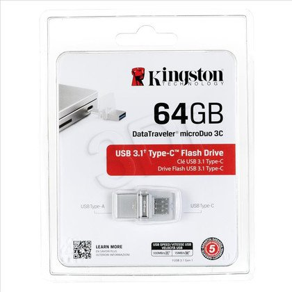 Kingston Flashdrive DTDUO3C/64GB 64GB USB 3.1 Biały