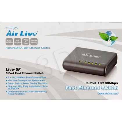 OVISLINK AirLive [ Live-5F ] Switch 5port 10/100Mbps