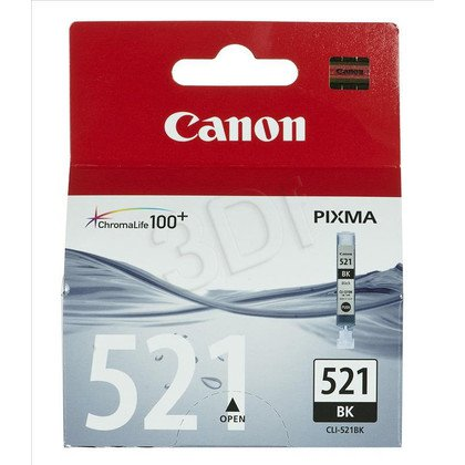CANON Tusz Czarny CLI-521BK=CLI521Bk=2933B001, 665 str., 9 ml