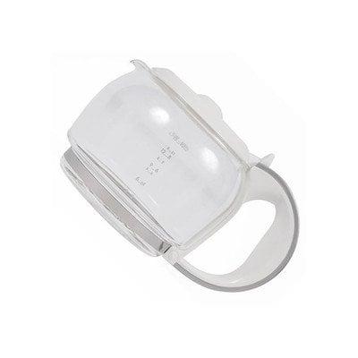 Szary szklany dzbanek do ekspresu do kawy, biały (4055031498)