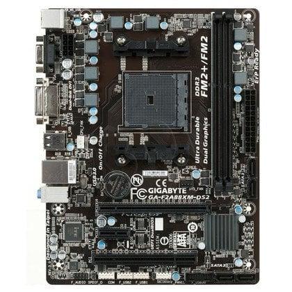 GIGABYTE GA-F2A88XM-DS2 A88X SFM2+ (PCX/DZW/GLAN/SATA3/USB3/RAID/DDR3) mATX