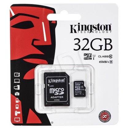 Kingston micro SDHC SDC10G2/32GB 32GB Class 10 + ADAPTER microSD-SD