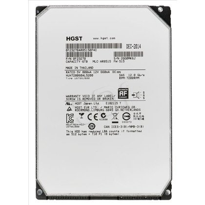 "HDD HGST Ultrastar HE8 6TB 3,5"" 7200 RPM SAS II 128MB"