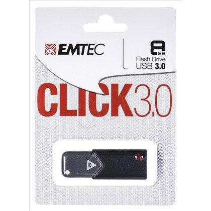 Emtec Flashdrive CLICK B100 8GB USB 3.0 Czarno - szary