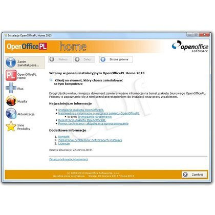 OpenOfficePL Home 2013 BOX (Aktualizacja do 2015 już dostępna - gratis)