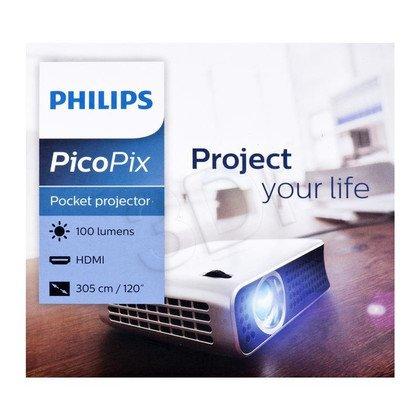 Philips Projektor kieszonkowy PPX4010 DLP 854x480 100ANSI lumen 1500:1