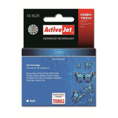 ActiveJet AE-802R tusz cyan do drukarki Epson (zamiennik Epson T0802) Premium