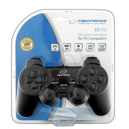 GAMEPAD ESPERANZA Z WIBRACJAMI EG102 DO PC/PS3 USB