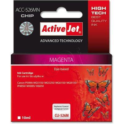 ActiveJet ACC-526M (ACC-526MN) tusz magenta do drukarki Canon (zam. CLI-526M) (CHIP)