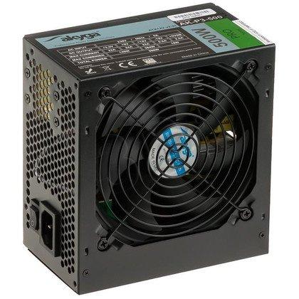 AKYGA ZASILACZ PRO ATX 500W FAN12CM P8 5XSATA 2xMOLEX PCI-E 6/8PIN