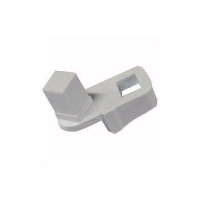 Półki na plastikowe i druciane r Ogranicznik otwarcia drzwi chłodziarki lewy Whirlpool (481253288077)