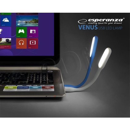 ESPERANZA LAMPKA LED DO NOTEBOOKA USB NIEBIESKA EA147B