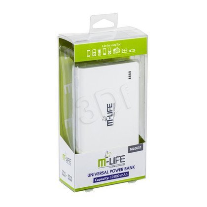 M-LIFE POWER BANK 10000 mAh DUAL USB