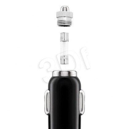 EXC UNIWERSALNA ŁADOWARKA SAMOCHODOWA USB+KABEL MUSB, 4200 mA, PERFECT, CZARNO-NIEBIESKA
