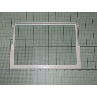 Półka szklana 455x305x3 z ramką białą (1031114)