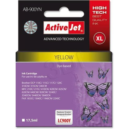 ActiveJet AB-900YN (AB-900Y) tusz yellow do drukarki Brother (zamiennik LC900Y)