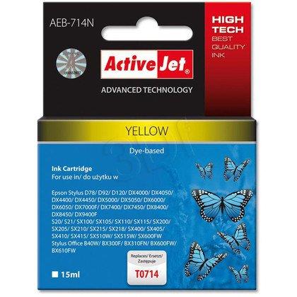 ActiveJet AEB-714N (AEB-714) tusz yellow pasuje do drukarki Epson (zamiennik T0714, T0894, T1004)