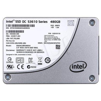 """DYSK SSD INTEL DC S3610 480GB 2,5"""" SATA3 SGL PACK"""