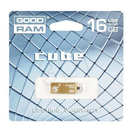 Goodram Flashdrive CUBE 16GB USB 2.0 Złoty