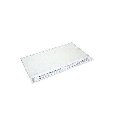 Dolna szklana półka z kratką wentylacyjną do lodówki — 477 x 300 mm (2251393522)