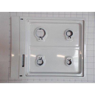 Płyta gaz.biała (4-palnik.zabezp.+zapal) (9004459)