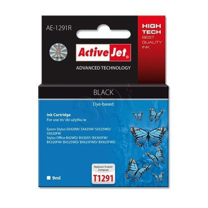 ActiveJet AE-1291R tusz czarny do drukarki Epson (zamiennik Epson T1291) Premium