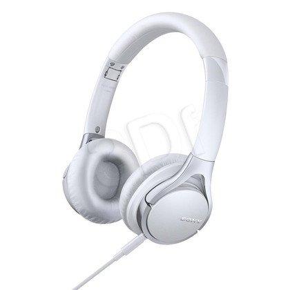 Słuchawki nauszne z mikrofonem Sony MDR-10RCW (Biały)