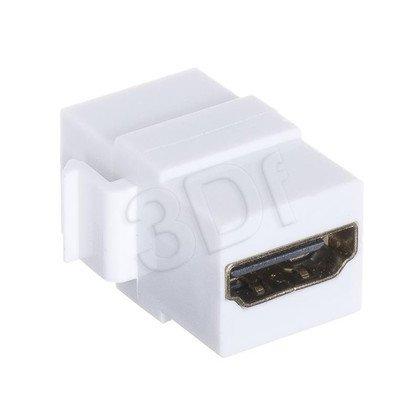 Keyston HDMI-HDMI G/G, kolor biały