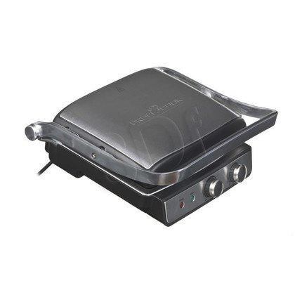 Grill elektryczny PROFI PC-KG 1029 (2000W stołowy-zamykany, srebrno-czarny)