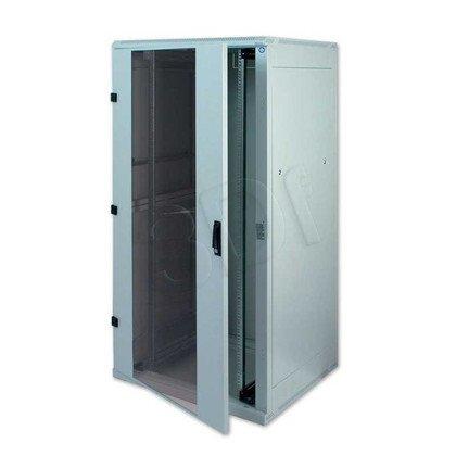 """Triton Szafa rack 19"""" stojąca demontowalna RZA-45-A81-CAX-A1 (45U, 800x1000mm, przeszklone drzwi, kolor jasnoszary RAL7035)"""