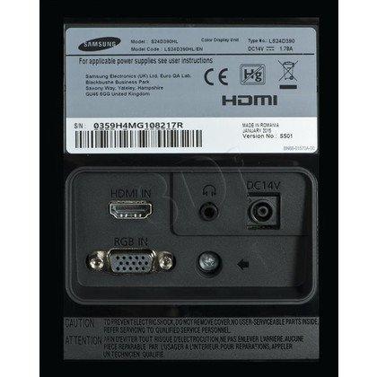 """MONITOR SAMSUNG LED 24"""" LS24D390HL/EN"""