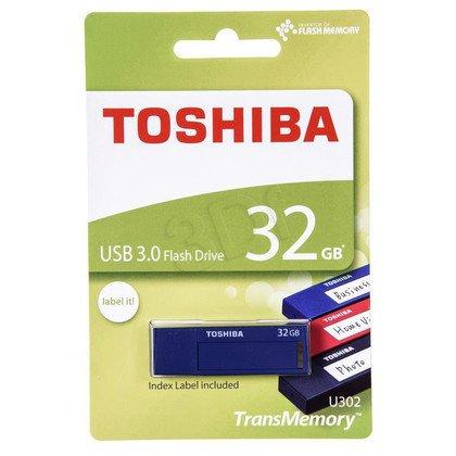 TOSHIBA Flashdrive U302 32GB USB 3.0 niebieski