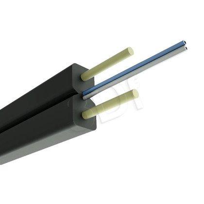 ALANTEC kabel światłowodowy LSOH 1000m FTTH płaski SM 2J 9/125 czarny