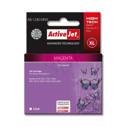 ActiveJet AB-1240MNX tusz purpurowy do drukarki Brother (zamiennik LC1240M)