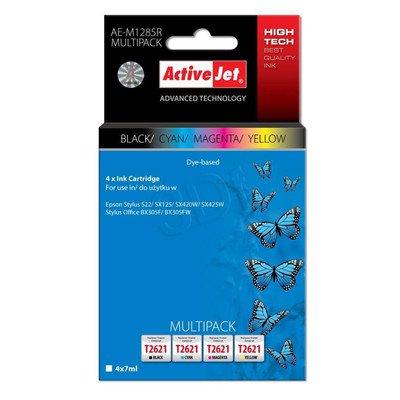 ActiveJet AE-M1285R multipack tusz czarny, cyan, magenta, żółty do drukarki Epson (zamiennik Epson T1285) Premium