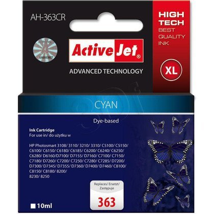 ActiveJet AH-363CR (AH-771) tusz cyan do drukarki HP (zamiennik HP 363 C8771EE)