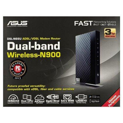 Asus DSL-N66U - Stylowy gigabitowy modemo-ruter z dwuzakresowym modułem bezprzewodowym N900