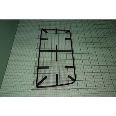 Ruszt 57Gv2 prosty emaliowany czarny mat lewy (9070743)