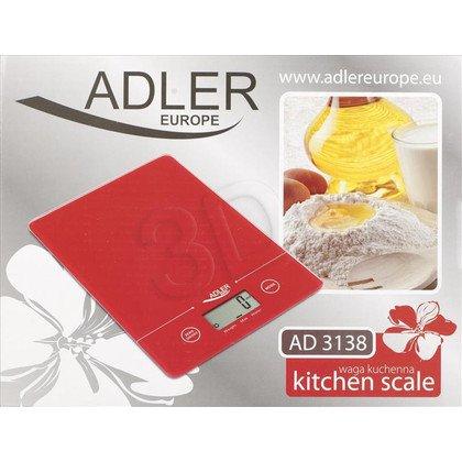 Waga kuchenna ADLER AD 3138 czerwona