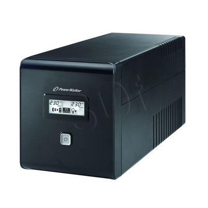 POWER WALKER UPS LINE-INTERACTIVE 1000VA 2X 230V PL + 2XIEC OUT, RJ11/RJ45 IN/OUT, USB, LCD