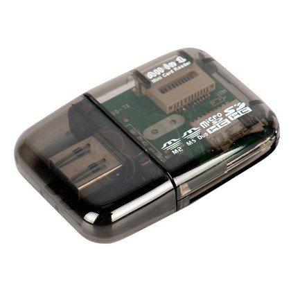CZYTNIK KART I-BOX R014 USB CZARNY (zew) - 4 SLOTY