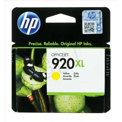 HP Tusz Żółty HP920XL=CD974AE, 700 str., 6 ml
