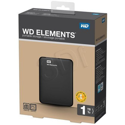 "HDD WD ELEMENTS 1TB 2.5"" WDBUZG0010BBK USB 3.0/2.0 BLACK"