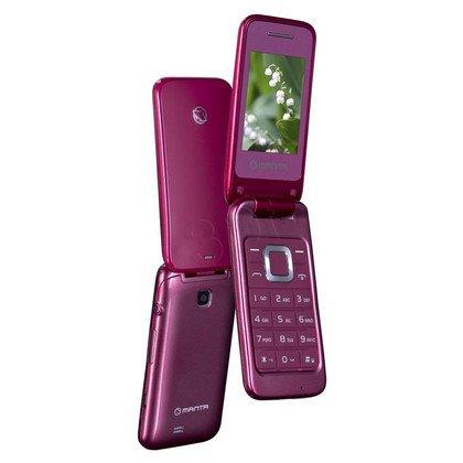 """Telefon Manta TEL2405 2,4"""" czerwony"""