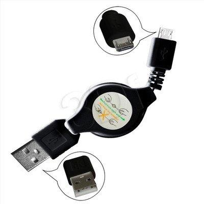 MSONIC KABEL MICRO USB 2.0 A-B M/M 0,7M, ROZWIJANY MLU529NK CZARNY