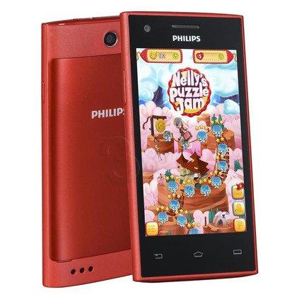 """Smartphone Philips S309 4GB 4"""" 4.4 Czerwony"""