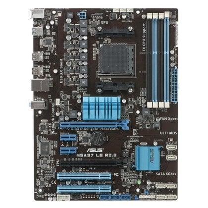 ASUS M5A97 LE R2.0 AMD 970 Socket AM3+ (2xPCX/DZW/GLAN/SATA3/USB3/RAID/DDR3/CROSSFIRE)