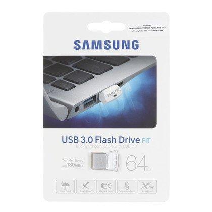 Samsung Flashdrive MUF-64BB/EU 64GB USB 3.0 Srebrny